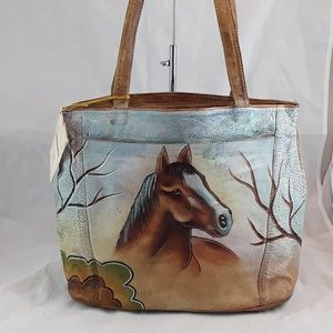 AGN Painted Leather Bag
